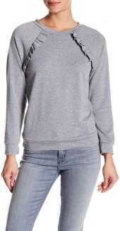 dee elly Ruffle Detail Sweatshirt