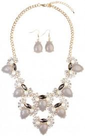 Riah Fashion Teardrop Necklace Set
