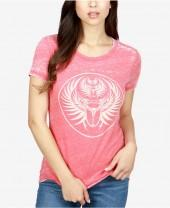 Lucky Brand Graphic-Print Burnout T-Shirt