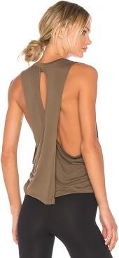 Beyond Yoga Wrap Around Tank in Army. - size L (also in M,S,XS)