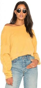 Stateside French Terry Sweatshirt in Mustard. - size L (also in M,S,XS)