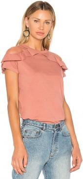 Red Valentino Ruffle Detail Top in Rose. - size 38/XS (also in 40/S,42/M,44/L)