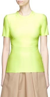 Tibi 'Baby' neon T-shirt