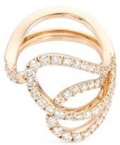 Ferrari Firenze 'Nastro' diamond 18k rose gold sculptural ring