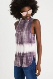 American Eagle Outfitters AE Soft & Sexy Tulip-Side Mock Tank