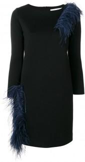 Gianluca Capannolo Vanessa feather embellished dress