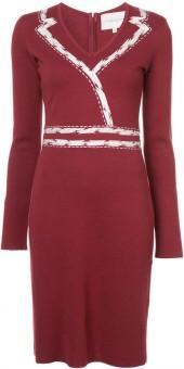 Carolina Herrera V-neck knitted dress