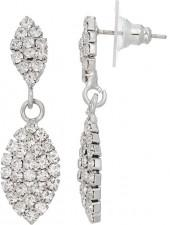 Simulated Crystal Marquise Nickel Free Double Drop Earrings