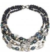 Multi Strand Medallion Necklace