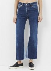 RE/DONE denim leandra high rise flare crop jean