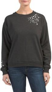 Jeweled Detail Sweatshirt