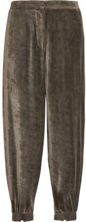 Stella McCartney - Velvet Track Pants - Gray