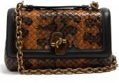 BOTTEGA VENETA Olimpia knot intrecciato-leather cross-body bag