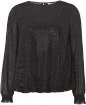 Petite Black Silver Spotted Blouse