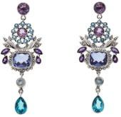 Nicky Butler Raj 16.60ctw Amethyst and Multigemstone Sterling Silver Dangle Earrings