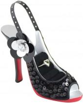 Black Glamour Nite Shoe Ring & Earring Holder