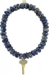 SYDNEY EVAN Pave Diamond Key Charm Bracelet