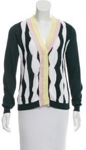 Sonia Rykiel Colorblock Cable Knit Cardigan