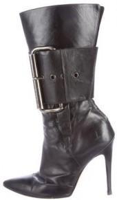 Manolo Blahnik Mid-Calf Pointed-Toe Boots