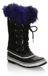 Sorel Suede Boots with Faux Fur