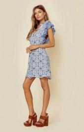 Miss june pretty printed ruffle dress