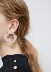 Acne Studios transparent anouk earrings
