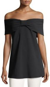 Chiara Boni La Petite Robe Anneflor Off-the-Shoulder Bow-Front Top