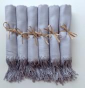 Etsy Light Silver Shawls with Raffia Ribbon, Set of 9, Pashmina, Scarf, Wedding Favor, Bridal Shower Gift