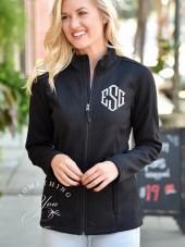 Etsy Monogrammed Heritage Charles River Heritage Rib Knit Jacket - BLACK 5748 - Full Zip - Warm Jackets,