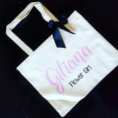 Etsy Custom Tote. Flower girl Tote. Flower girl Bag. Personalized Tote. Personalized Tote. Wedding Day To