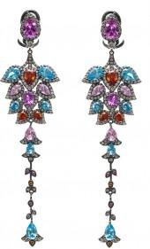"Multi-Colored Statement Earrings ""Hala"""