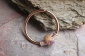 Etsy 16g 18g 20g Rose Gold Hoop Beaded Brown and Purple Nose Hoop Nose Ring Cartilage Hoop Tragus Hoop