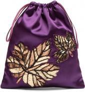 ATTICO Embellished-leaf satin pouch