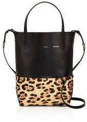 Alice.D Husky Small Leather and Calf Hair Tote