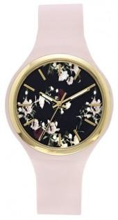 Vince Camuto Floral Silicone-band Watch