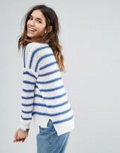 Brave Soul Loose Fit Sweater With Split Hem