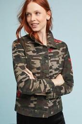 Pilcro Embroidered Camo Jacket