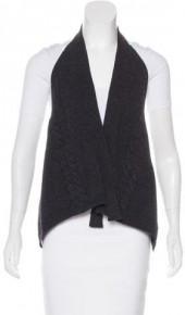 MaxMara Virgin Wool Open Front Vest