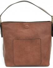 Joy Accessories Cognac Hobo Bag