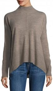 Sweet Romeo Mock-Neck Tunic Sweater
