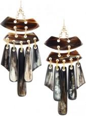 Devon Leigh Statement Horn Chandelier Earrings
