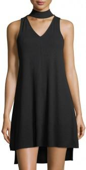 Fourteenth Place V-Neck Sleeveless Rib-Knit Dress