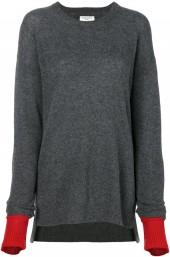 Sansovino 6 contrast layered cuff jumper