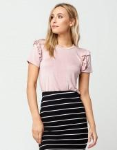 FULL TILT Ruffle Shoulder Womens Top