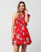LOVE FIRE Ruffle Floral Dress