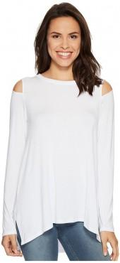 HEATHER Long Sleeve Slit Shoulder Slouchy Top