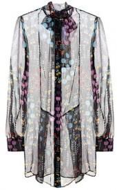 Valentino Printed silk top