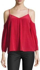 Joie Eclipse Cold-Shoulder Flowy Blouse