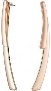 GUESS Double Curved Stick Earrings