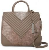 Vince Camuto Delma Snake-Embossed Leather Satchel